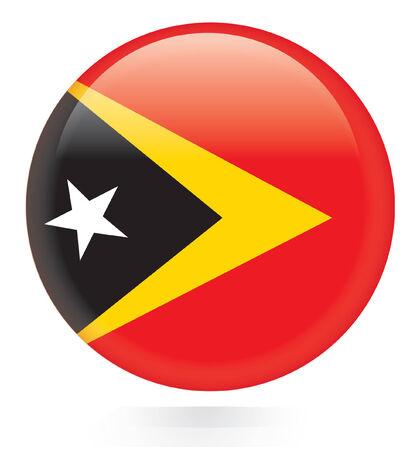 East Timor flag button