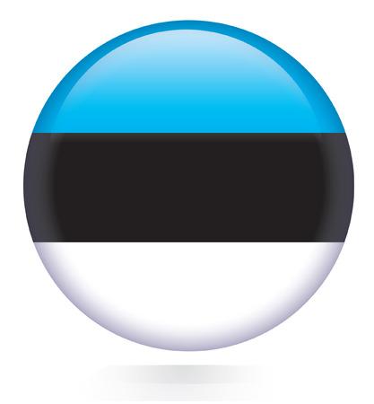 Estronia flag button  Vector