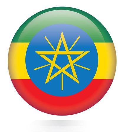 ethiopia flag: Ethiopia flag button