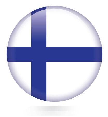 bandera de finlandia: Bot�n de bandera de Finlandia