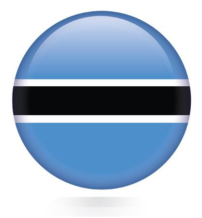 botswana: Botswana Flag button
