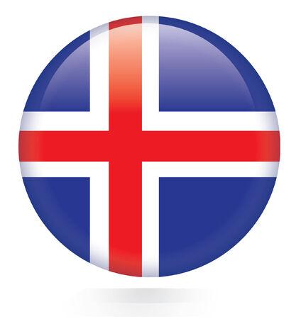 flag of iceland: Bot�n de la bandera de Islandia