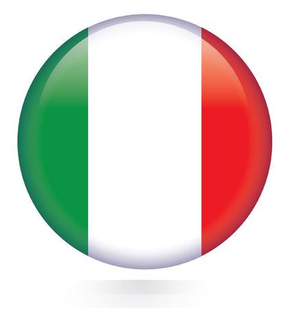 bandera italia: Italia bandera botón