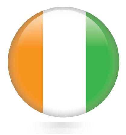 cote d ivoire: Ivory Coast flag button