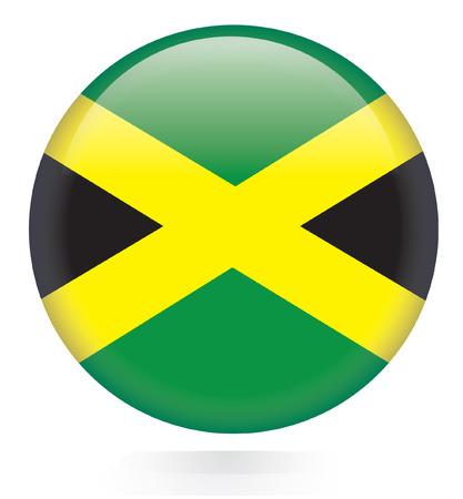 jamaican flag: Jamaica flag button