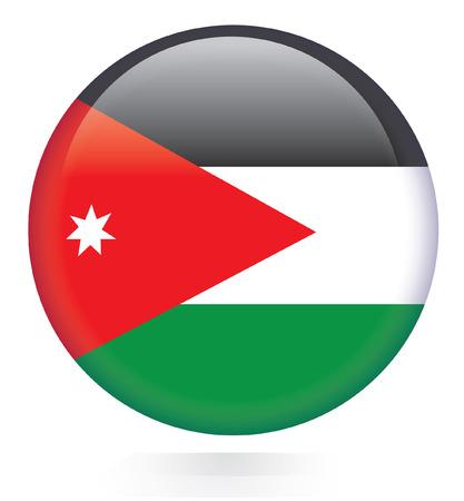 Jordan flag button  Vector