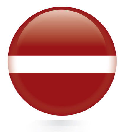 latvia flag: Latvia flag button  Illustration