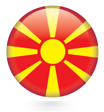 Macedonia flag button  Stock Vector - 28875283