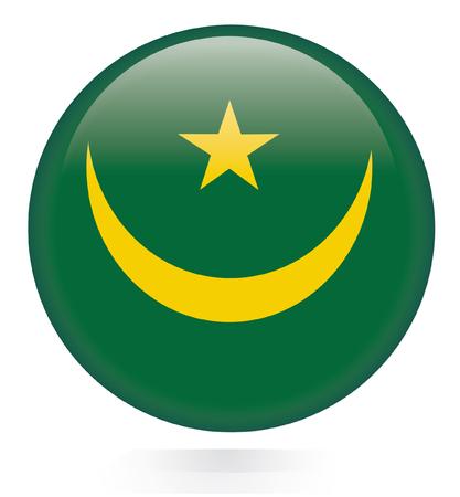 mauritania: Mauritania flag button