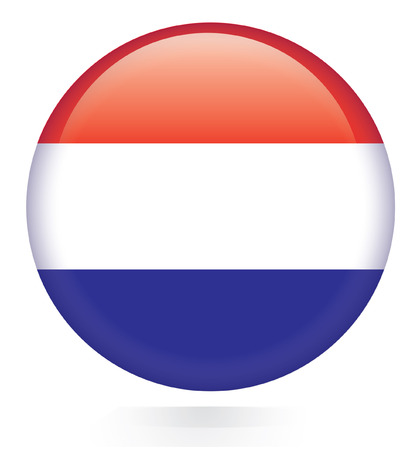 Netherlands flag flag button  Stock Vector - 28875287