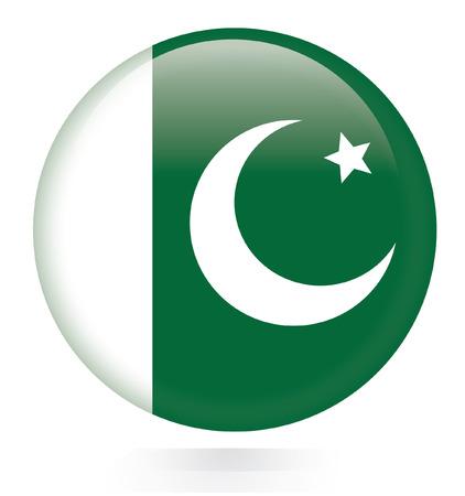 pakistan flag: Pakistan flag button  Illustration