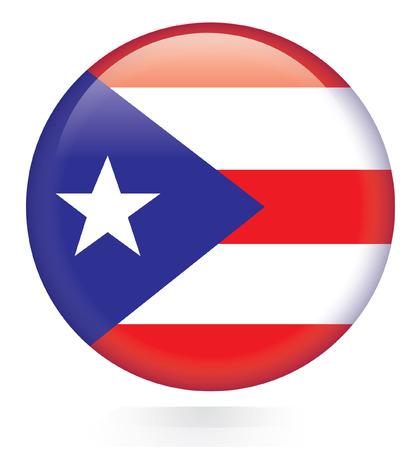 rican: Bot�n del indicador de Puerto Rico