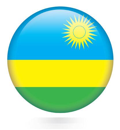 rwanda: Rwanda flag button  Illustration
