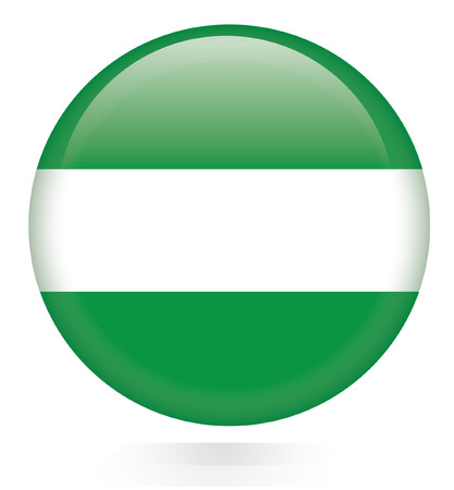 Rotterdam City flag button  Vector