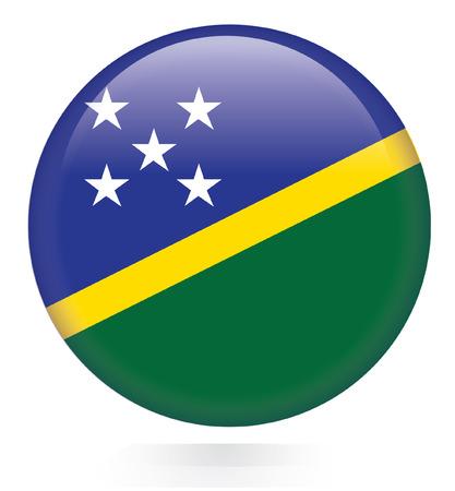 solomon: Solomon Islands flag button  Illustration