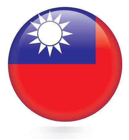 Taiwan bouton drapeau Banque d'images - 28471532