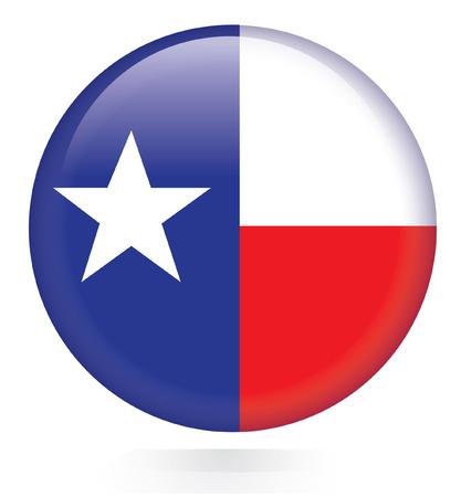 houston flag: Texas flag button