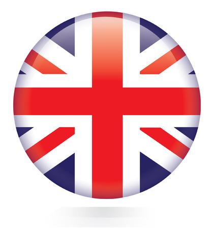 Union Jack flag button  Vector