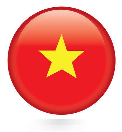 botton: Vietnam flag botton Illustration