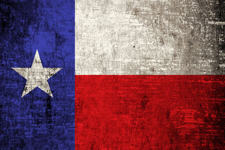 Texas State Flag painted on wood background  photo