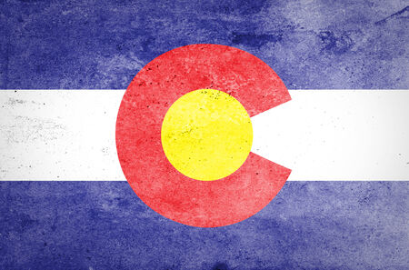 colorado mountains: Grunge of Colorado Flag