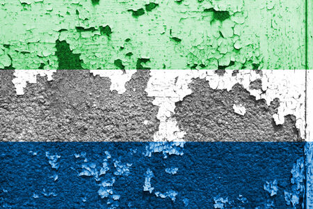 sierra: Grunge of Sierra Leone Flag