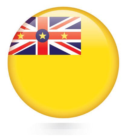 niue: Niue flag button