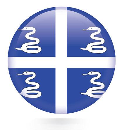 martinique: Martinique Flag button  Illustration