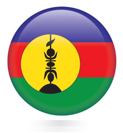 orange county: New Caledonia Flag button  Illustration