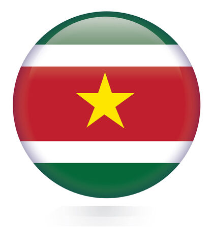 suriname: Suriname flag button  Illustration