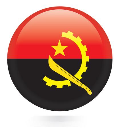 Angola flag button Vector