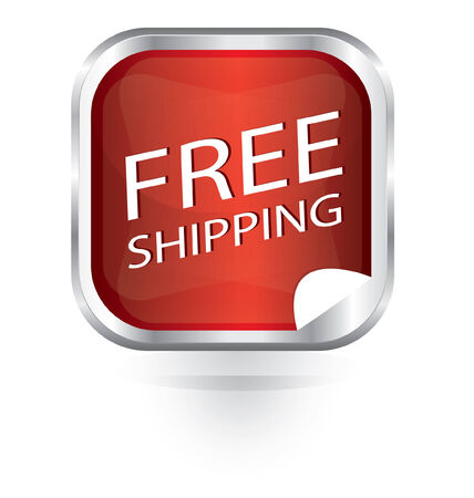 Vector red free shipping icon Vector