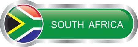 южный: Южная Африка флаг глянцевый баннер