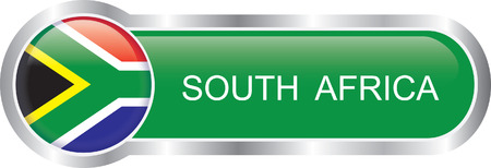 South Africa flag glossy banner  Vector
