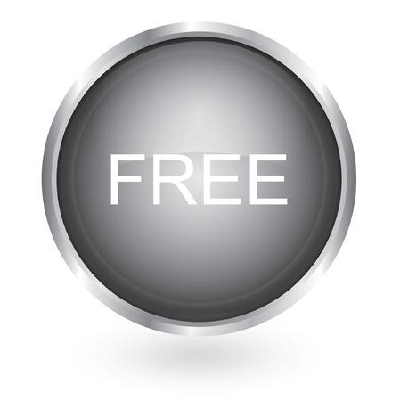 gratuity: Free icon glossy button