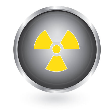 Radiation symbol glossy button  Stock Vector - 29378511