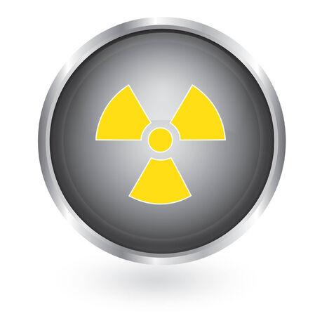 Radiation symbol glossy button Stock Vector - 29378511