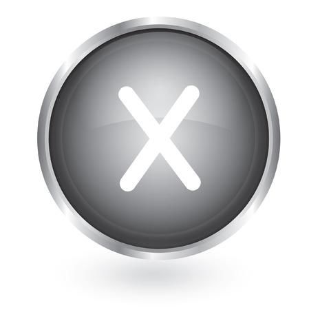 delete remove button  Vector