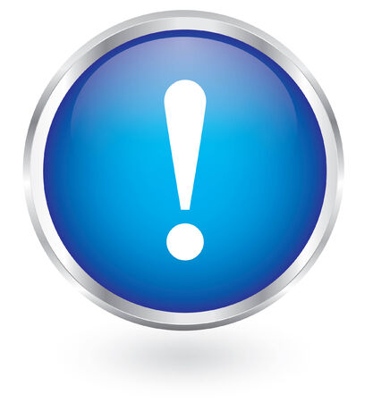 icon glossy: segno esclamativo glossy icon