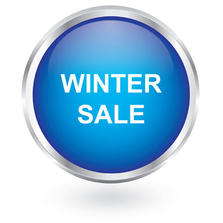 winter sale glossy button  Vector