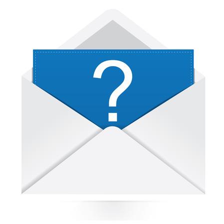 e survey: Question mark in envelope