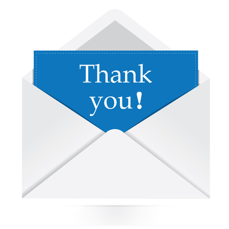 thank you envelope message  Vector