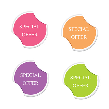 Vector - Special offer symbol  Round stickers   Vector