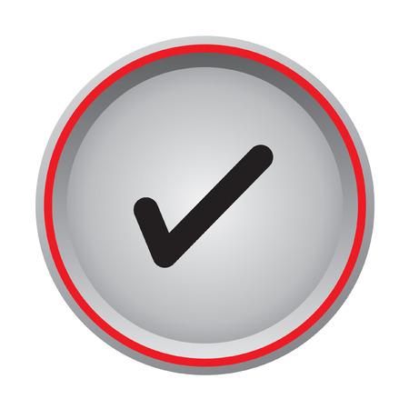 confirm button  Vector