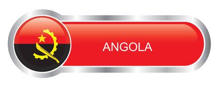 Angola Flag glossy banner  Vector
