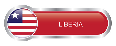Liberia Flag glossy banner  Vector