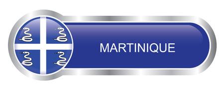 martinique: Martinique Flag glossy banner