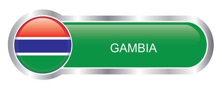 gambia: Gambia Flag glossy banner