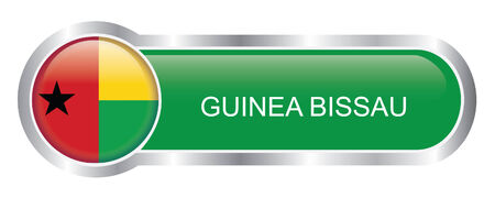 guinea bissau: Guinea Bissau Flag glossy banner  Illustration