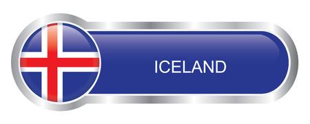 flag of iceland: Bandera de Islandia bandera brillante
